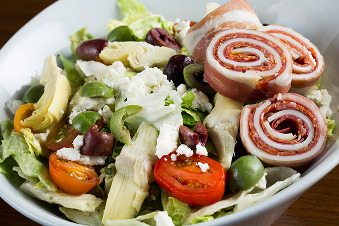 Try Stag Bar's Antipasto Salad