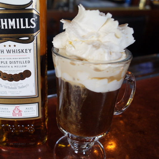 Try Stag Bar's Irish Coffee