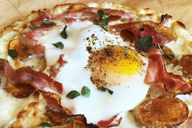 Try Stag Bar's Breakfast Pizza