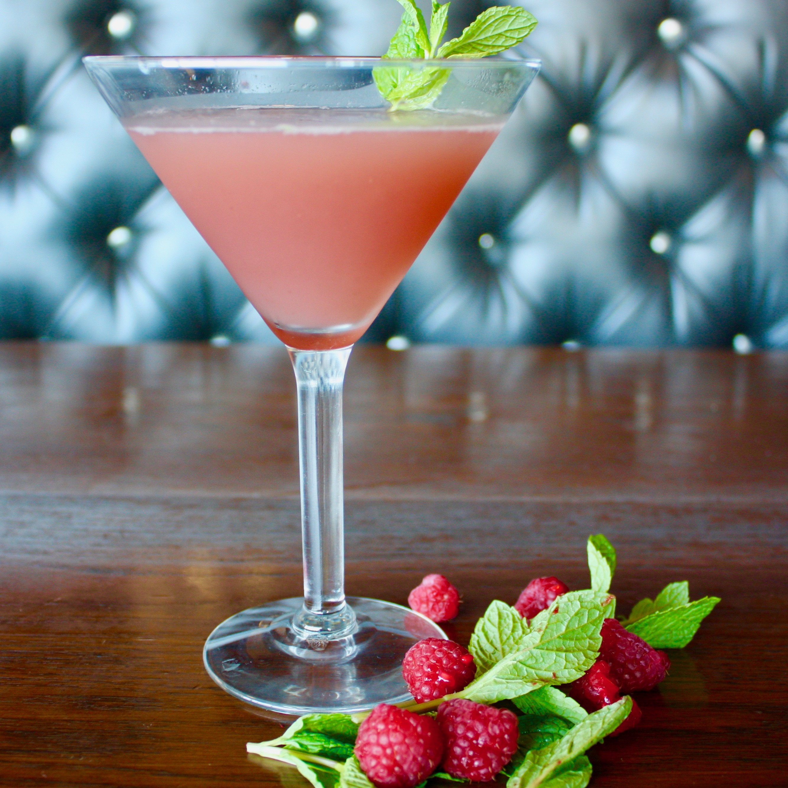 Try Stag Bar's Raspberry Mint Gimlet