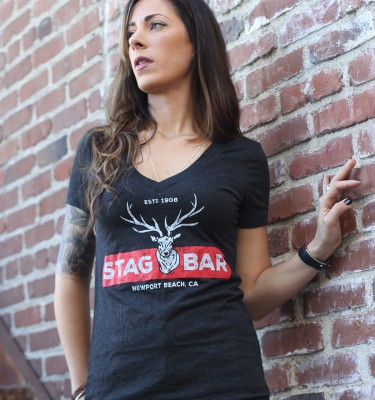 Stag Bar - Women's V-Neck Shirt
